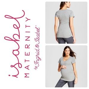 Isabel Maternity Grey Tee